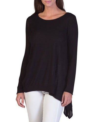 Jersey Pullover Sweater, Black