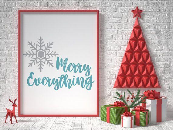 Merry Everything Christmas Printable Home Decor Christmas Christmas Signs Christmas Printables Diy Holiday Decor