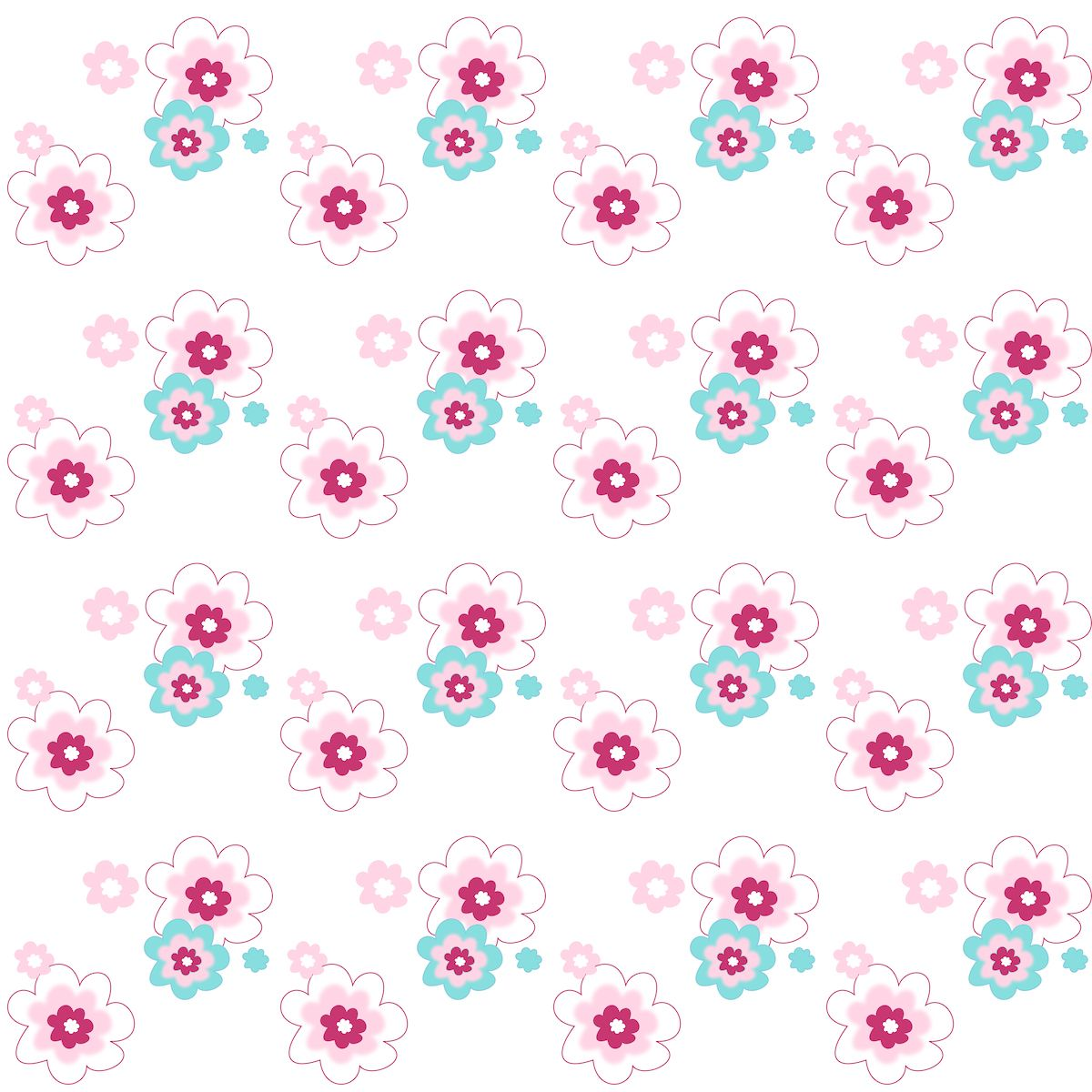 Free Printable Pastel Colored Floral Pattern Paper