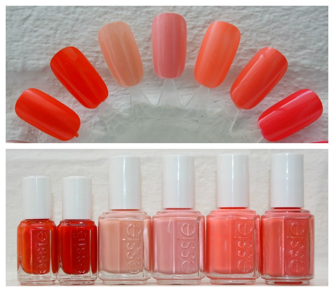 Essie Comparison L-R: Braziliant, Meet Me At Sunrise, A Crewed ...