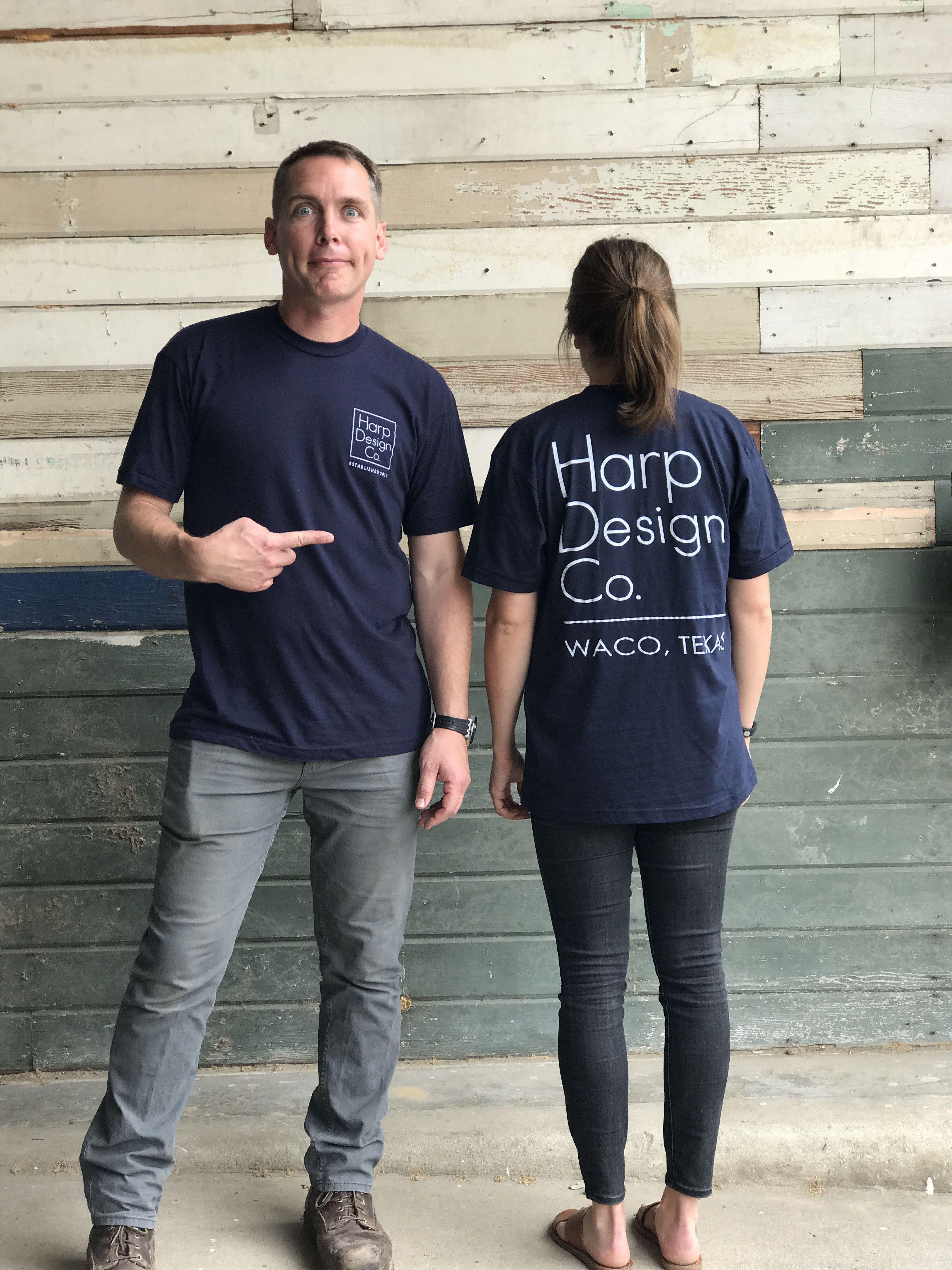 T Shirt Navy Blue Clint Harp Joanna Gaines And Magnolia Fixer Upper