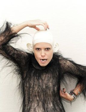 Heidi Klum Monkey Halloween Costume.Celebrity Costumes Heidi Klum Tight Bodysuit