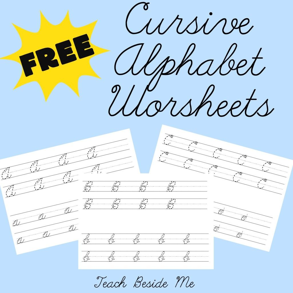 Cursive Alphabet Worksheets