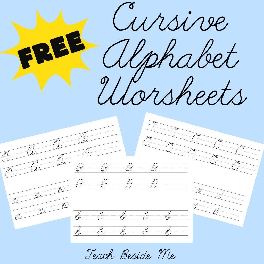 Cursive Alphabet Worksheets Homeschool Teaching