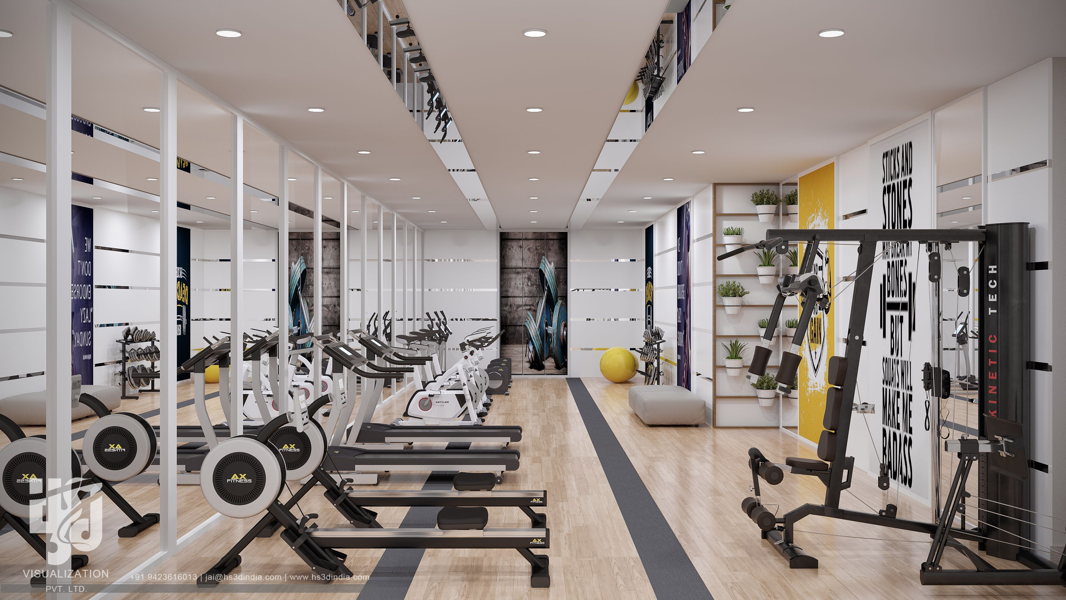 Fitness Studio 3d Visualization Fitness Studio Gym Fitness Motivation Commercial Fitness