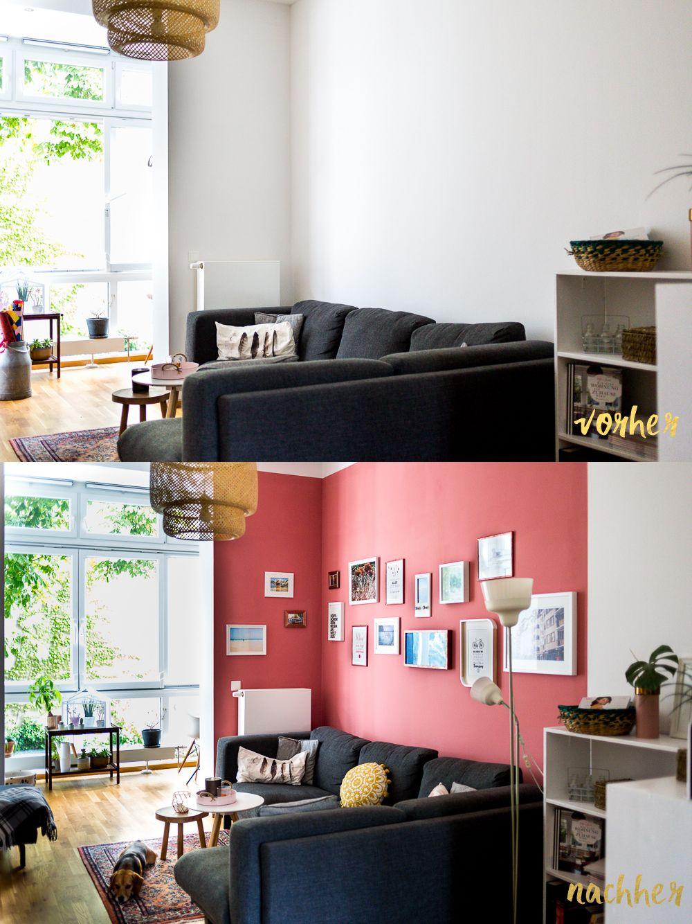 projekt traumwohnung 2 0 endlich farbe an den w nden mit sch ner wohnen farbe bilderwand. Black Bedroom Furniture Sets. Home Design Ideas