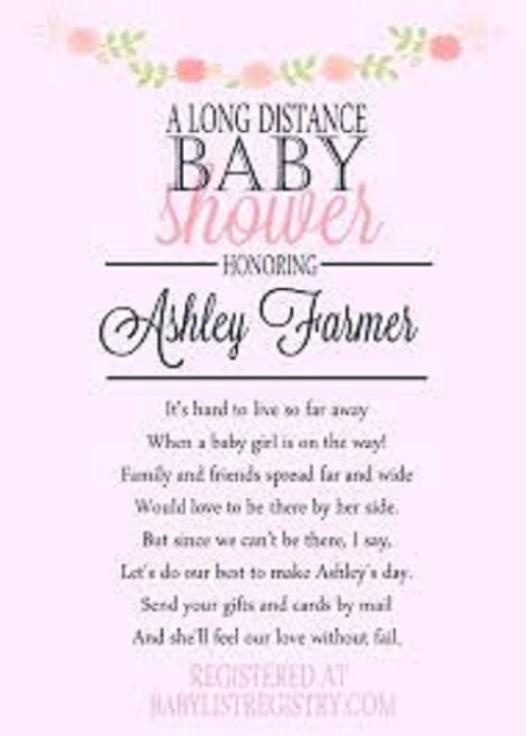BABY SHOWER ANNOUNCEMENTS WORDING
