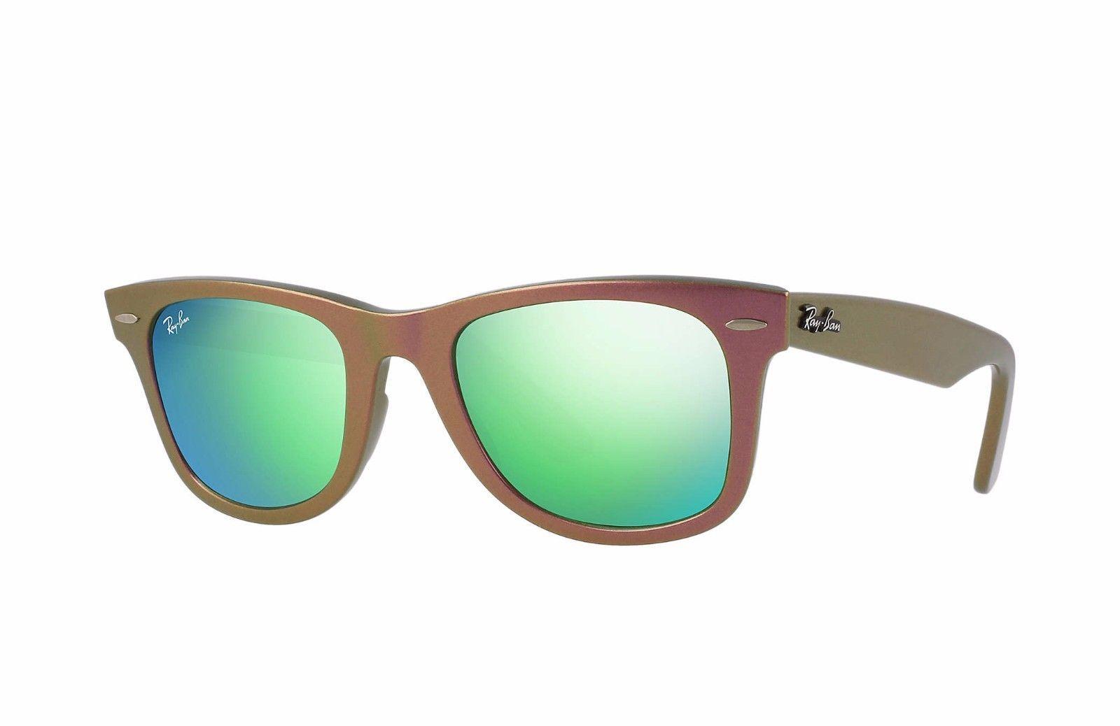 8115dbf404 Ray-Ban RB2140-611019-50 Original Wayfarer Cosmo Green Flash Lens  Sunglasses