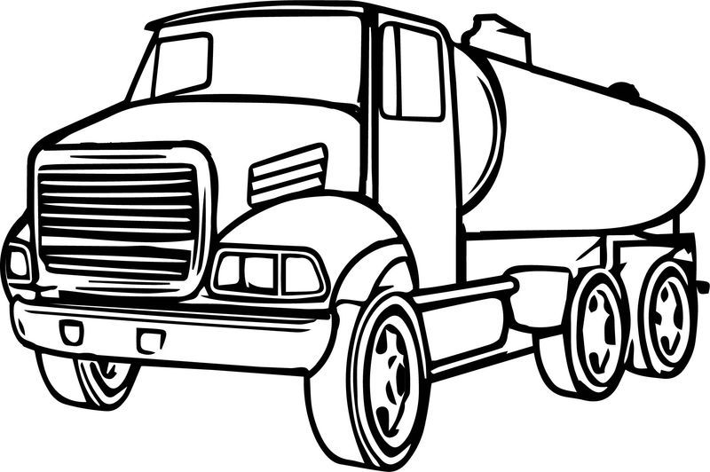 Cistern Truck Cartoon Coloring Page Cartoon Coloring Pages Batman Coloring Pages Captain America Coloring Pages