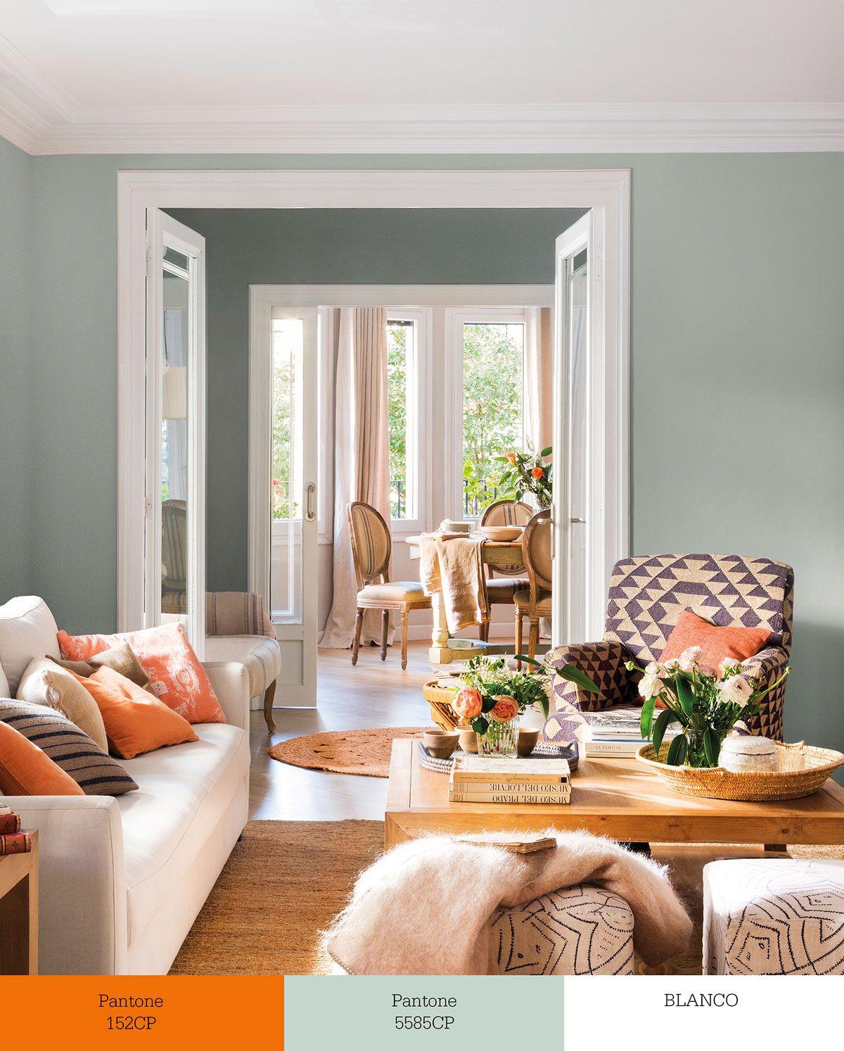 Naranja Palido Verde Violeta Colores Para Comedor Decoracion De Unas Colores De Pintura De Interior