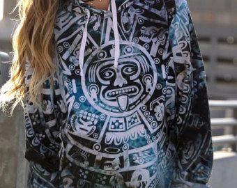 Colombia años 90 Nylon Resumen suéter con capucha por FiestaForever