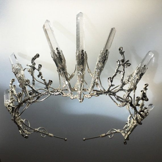 The VENUS Crown - Crystal Quartz Crown Tiara - Magical Headpiece. Alternative Bride, Festival, Game of Thrones!