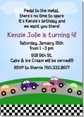 Race car birthday party invitations!