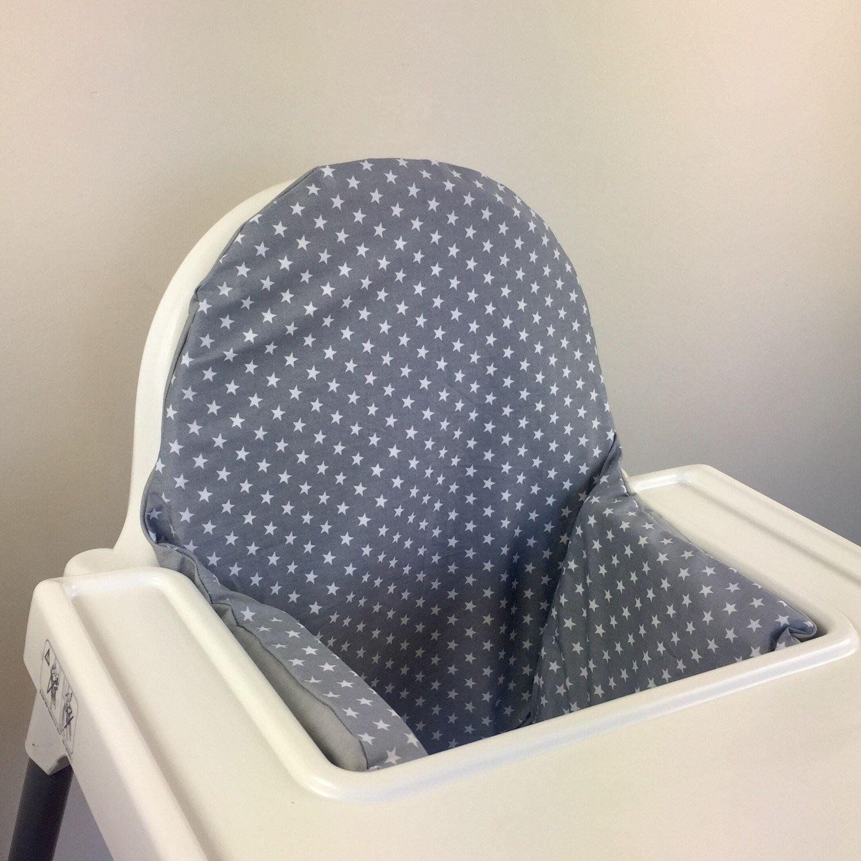 Stupendous Grey Stars Ikea Antilop Highchair High Chair Cushion Cover Short Links Chair Design For Home Short Linksinfo