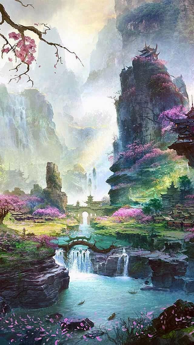 The Garden Of Peace Fantasy Landscape Landscape Art Fantasy Art