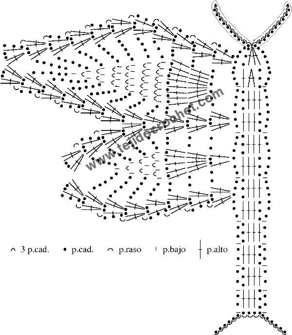 Patrón de la mariposa a crochet   CROCHET Y PUNTO   Pinterest   Las ...