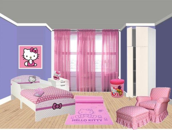Pink Purple Hello Kitty Bedroom Bedroom Makeover Hello Kitty
