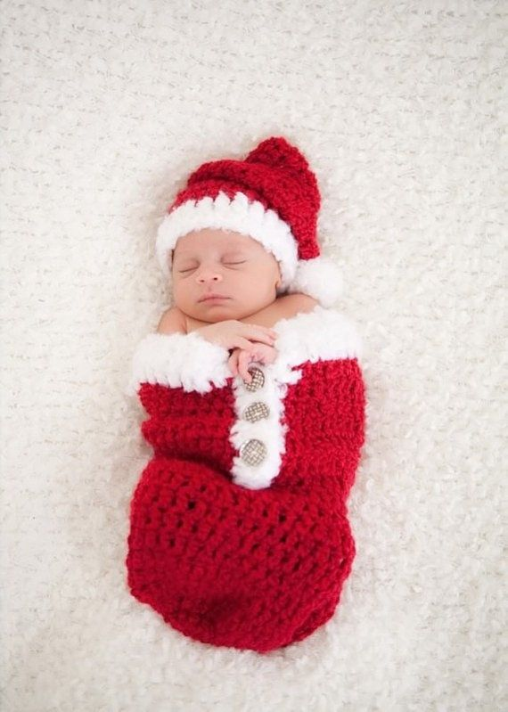 800e7570ecf Newborn Christmas Swaddle Sack and Hat Set
