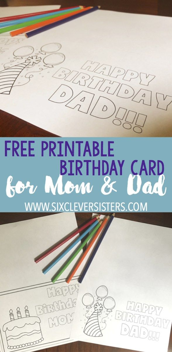 FREE Printable Birthday Cards to Color | Pinterest | Free printable ...