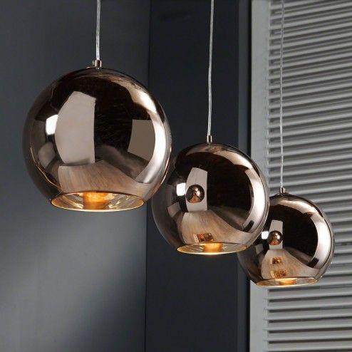 hanglamp jeffery 3 lamps in koperkleur lampen voor keuken