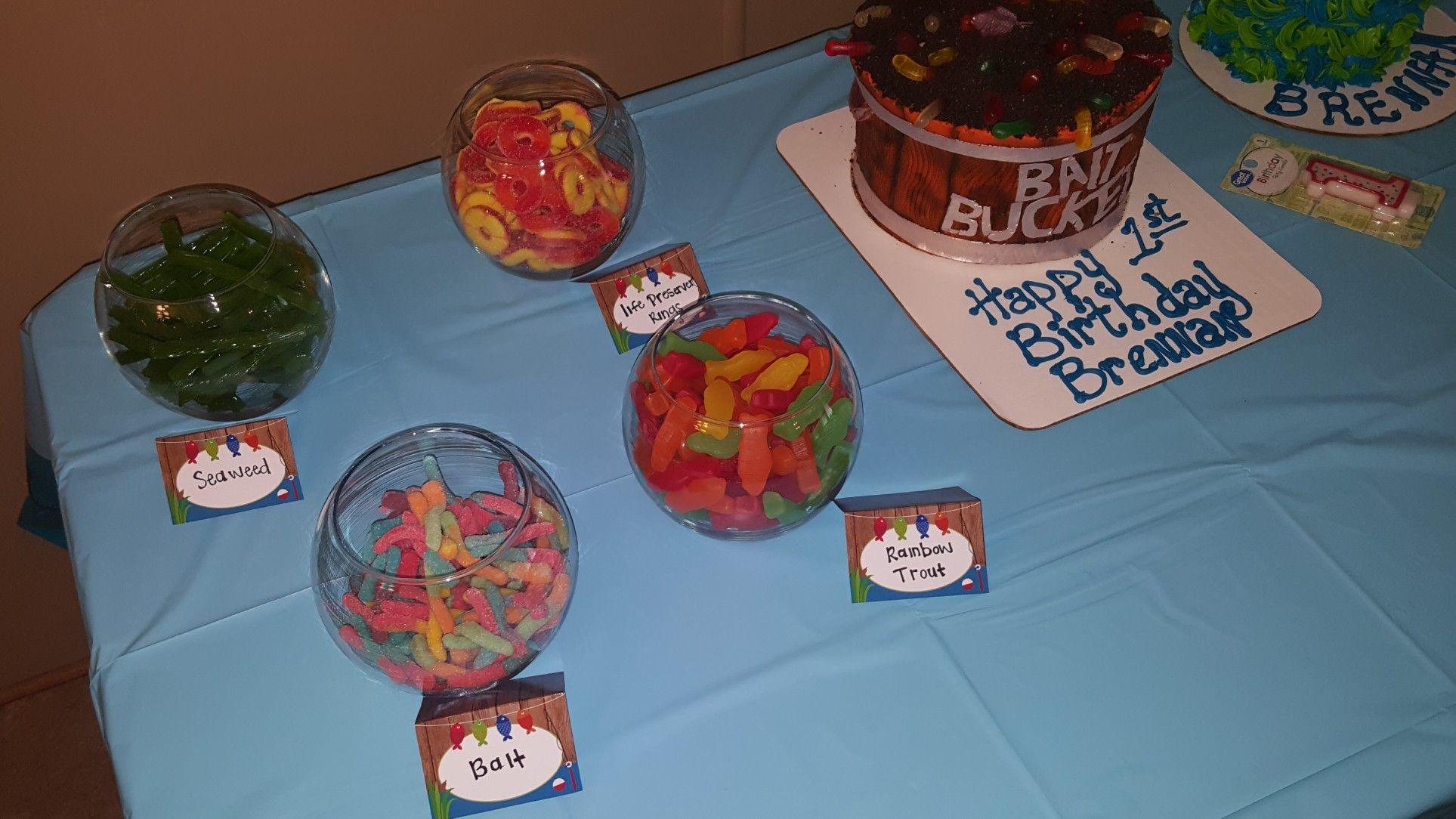 O Fish Ally One Party Food Candy For Cake Table Bait