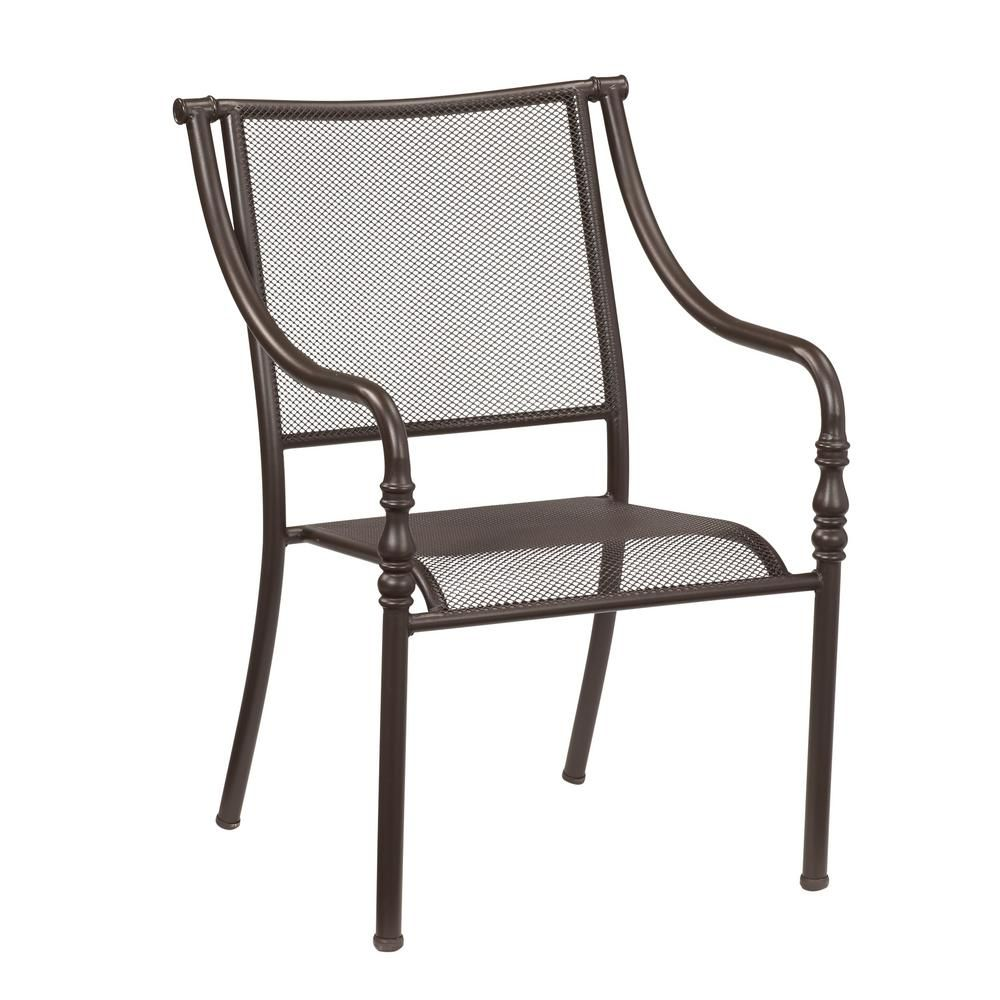 Hampton Bay Mix And Match Stack Patio Dining Chair Fcs60437a The Home Depot Metal Patio Chairs Patio Dining Patio Dining Chairs