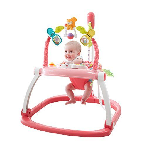 Fisher Price Floral Confetti Spacesaver Jumperoo With Images Baby Activity Center Infant Activities Nursery Toys