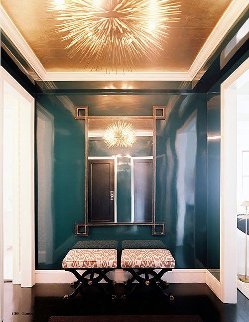Gilded Ceiling Lacquered Walls Gold Ceiling Home