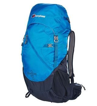 http://www.breakingfree.co.uk The Berghaus Freeflow II 30 Rucksack is a great pack for trekking, hikers and will hold 30L, so you can be sure to get everything in. It has lots of handy storage areas for easy and quick access and benefits from side compression straps so the pack can be expanded when required. The shoulder straps are vented and also benefit from an adjustable harness system so the pack can fit to your specific back length.