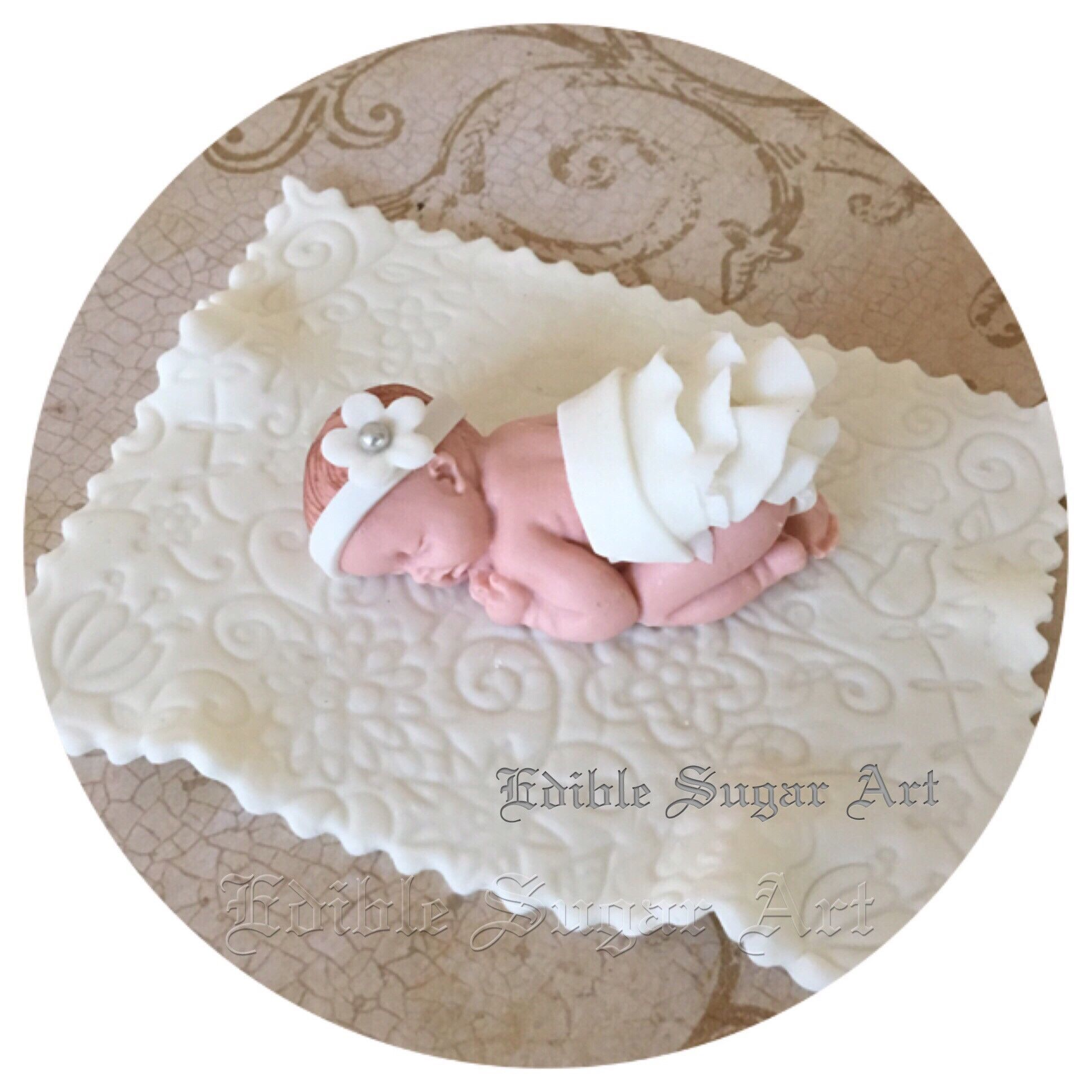 Baby Shower Decorated Cakes: BABY SHOWER CAKE Topper Fondant Baby Shower Decorations