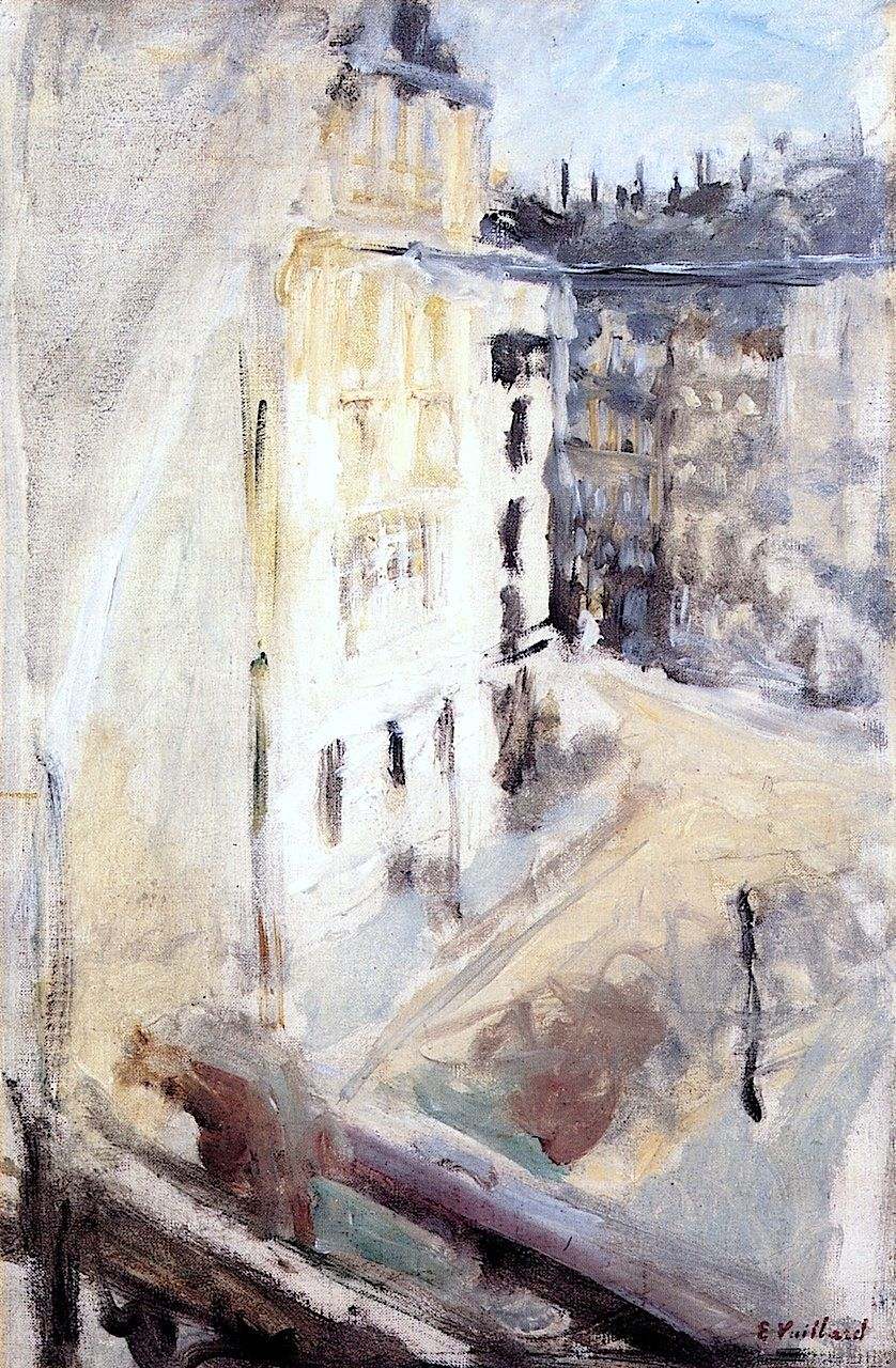 A Corner of the Place Vintimille, View from the Artist's Window / Edouard Vuillard - circa 1905