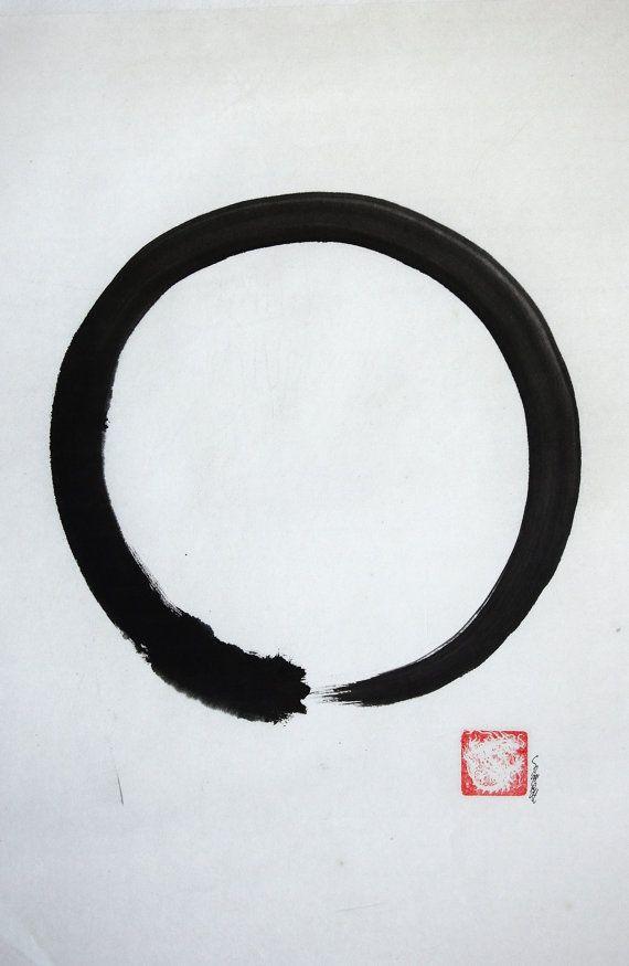 Enso Zen Buddhist Symbol Japanese Calligraphy Por Samuraiart