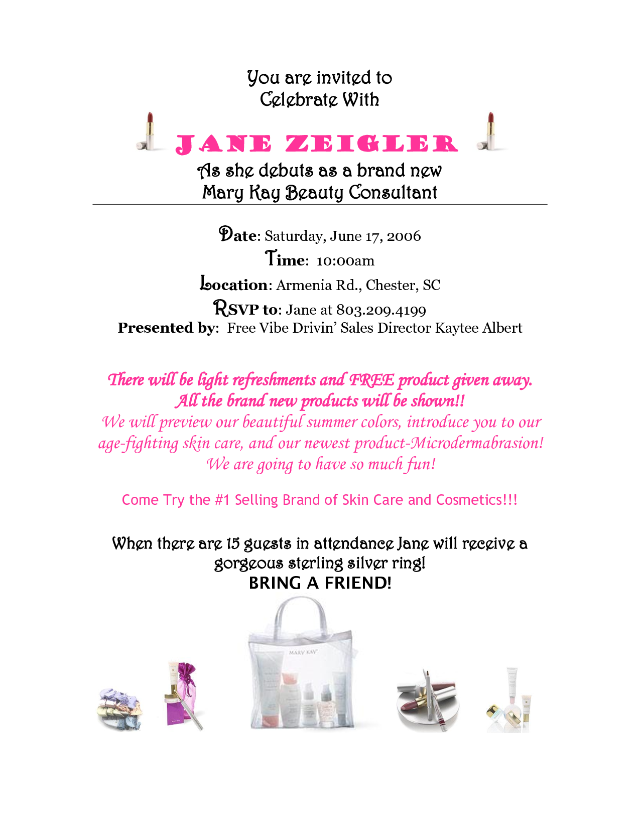Mary Kay Debut Party Invitations | Mary Kay