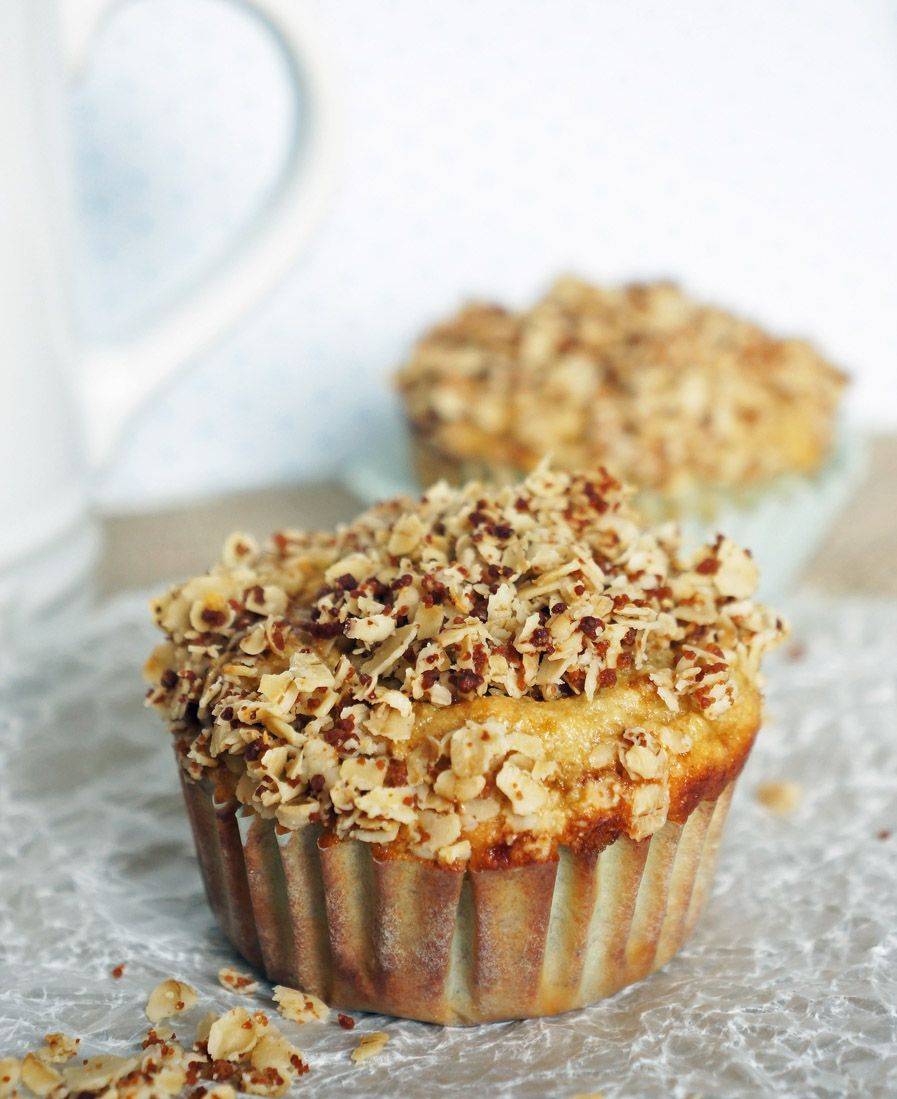 Banana oat muffins with crumble top recipe banana oat