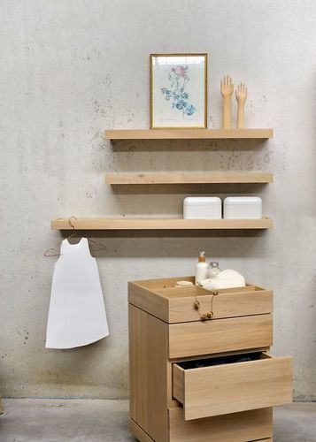 Ethnicraft Oak Bathroom Shelf