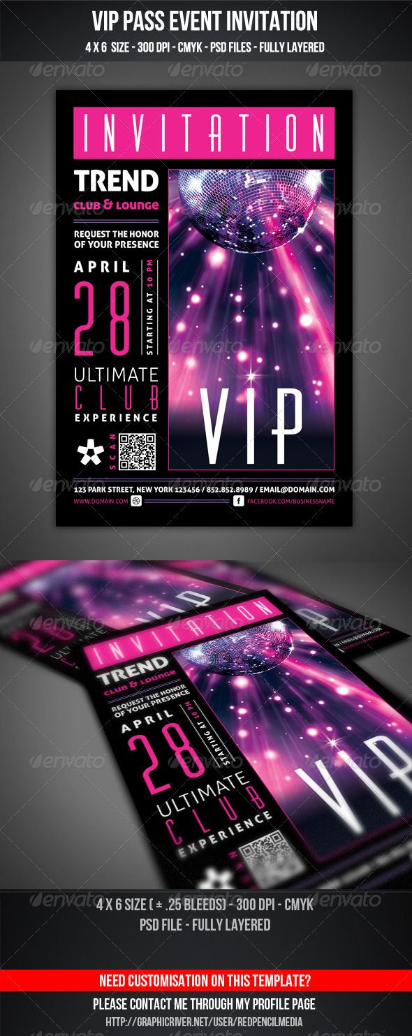 vip club event invitation graphics portrait and invitation cards templates middot vip club event invitation