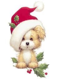 Картинки по запросу щенок рисунок   Рождественские пейзажи ...