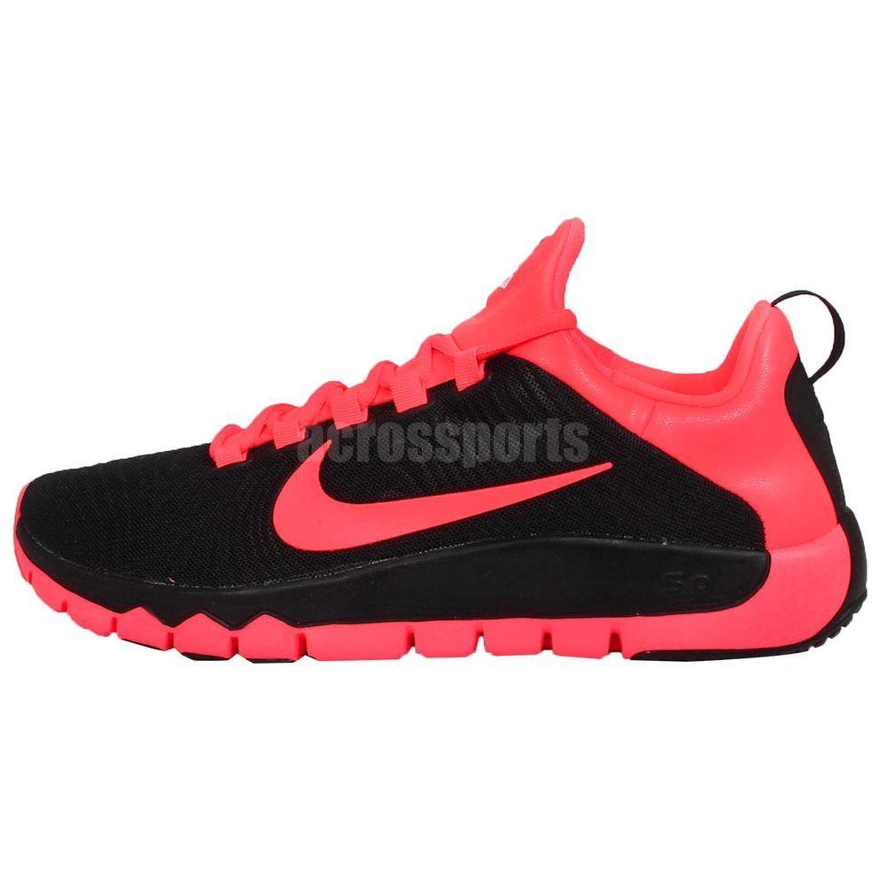 Nike Free Trainer 5.0 V5 Black Hyper Punch Pink Mens Cross Training Shoes  Run http: