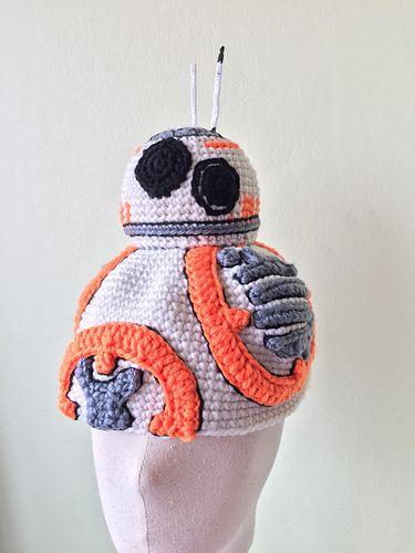 BB-8 droid - free crochet hat pattern by Jib Thitiporn. | Crafty ...