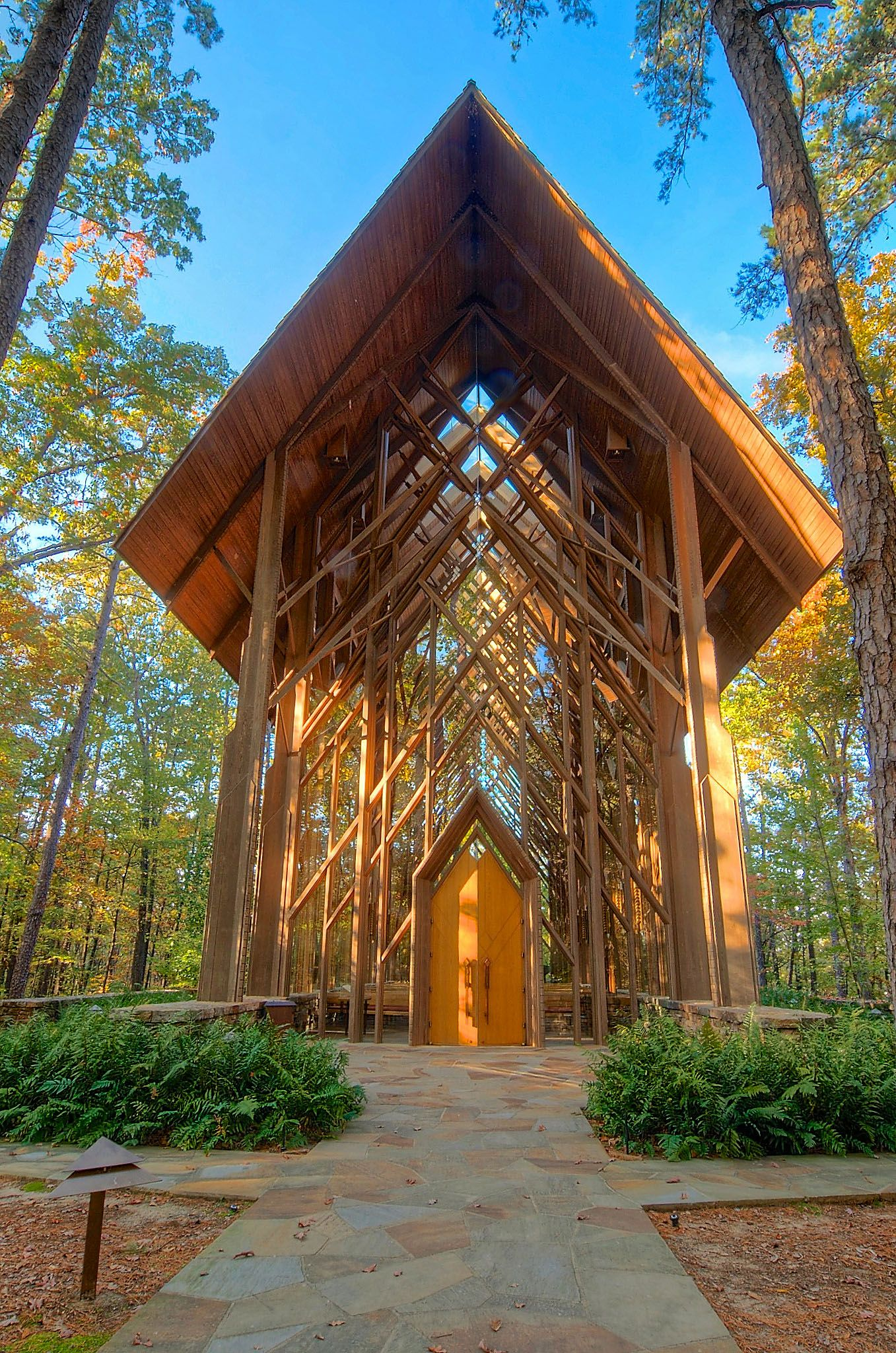 Anthony Chapel in fall! Garvan Woodland Gardens. One of my