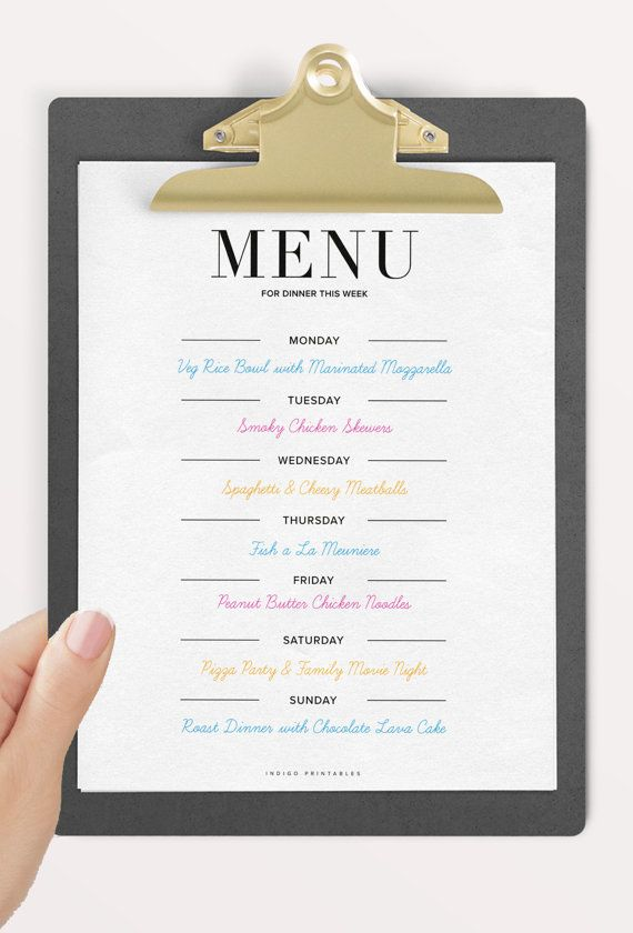 dinner menu 2 pages created by indigoprintables fancy. Black Bedroom Furniture Sets. Home Design Ideas