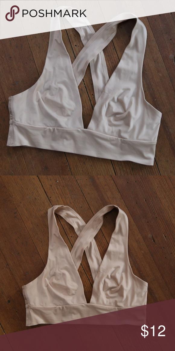 60e4cd2f9da Aerie Sunnie Nude Racerback Bralette aerie size xs nude bra or bralette  syle sunnie excellent condition