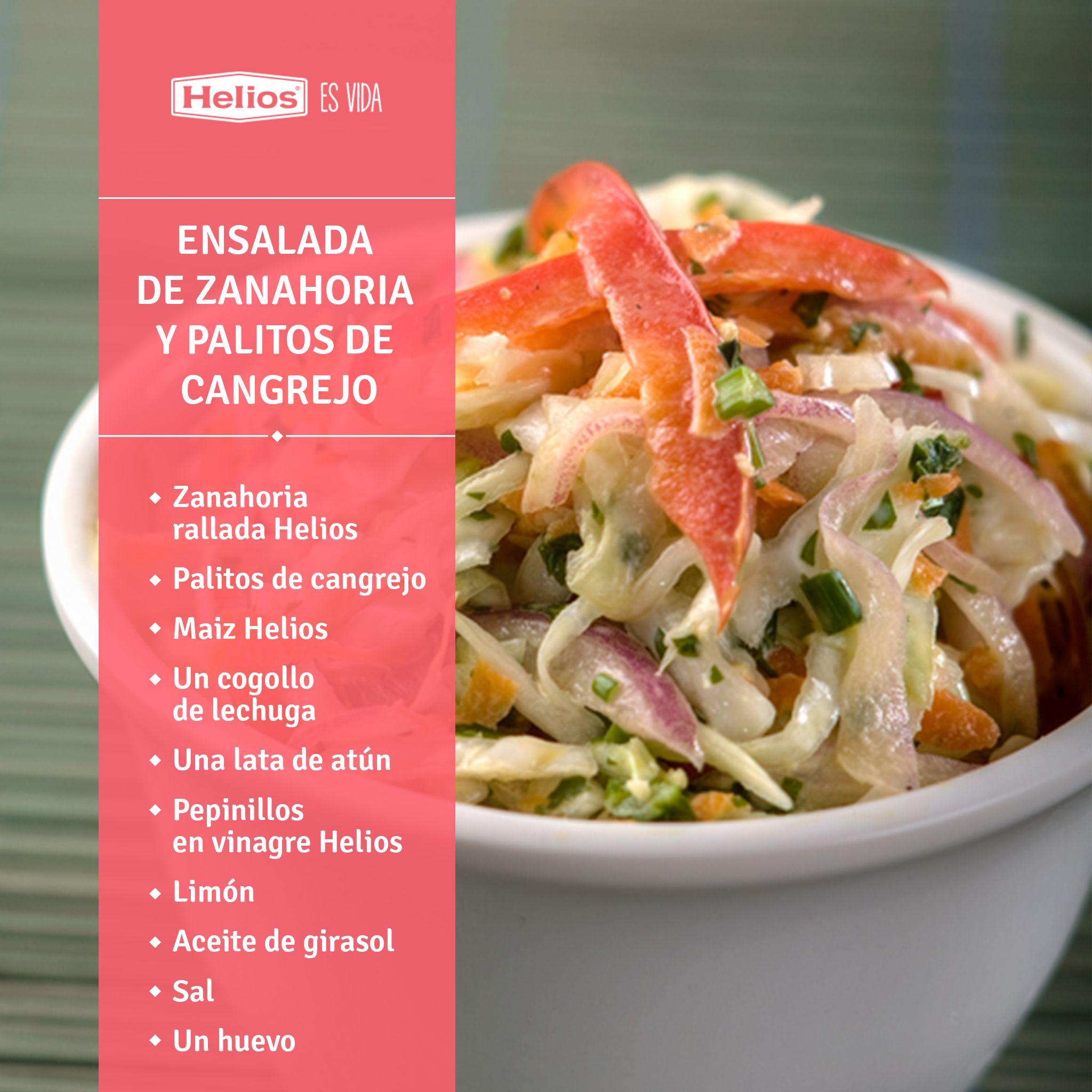 Ensalada de zanahoria y palitos de cangrejo