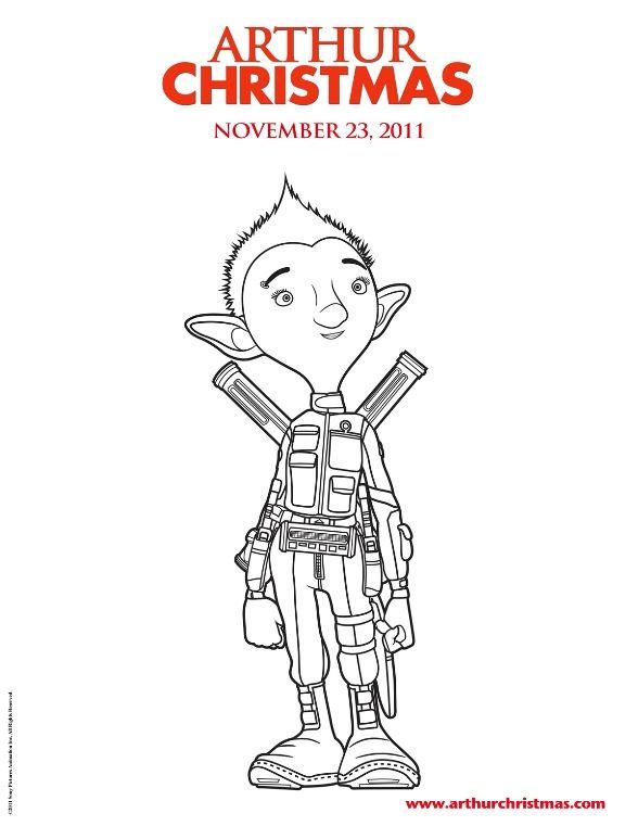 coloring page Arthur Christmas - Arthur Christmas | Christmas ...