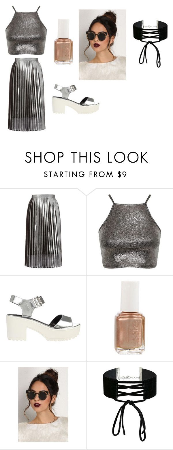 """""""))"""" by mirimarimi ❤ liked on Polyvore featuring Whistles, Miss Selfridge, River Island and Essie"""