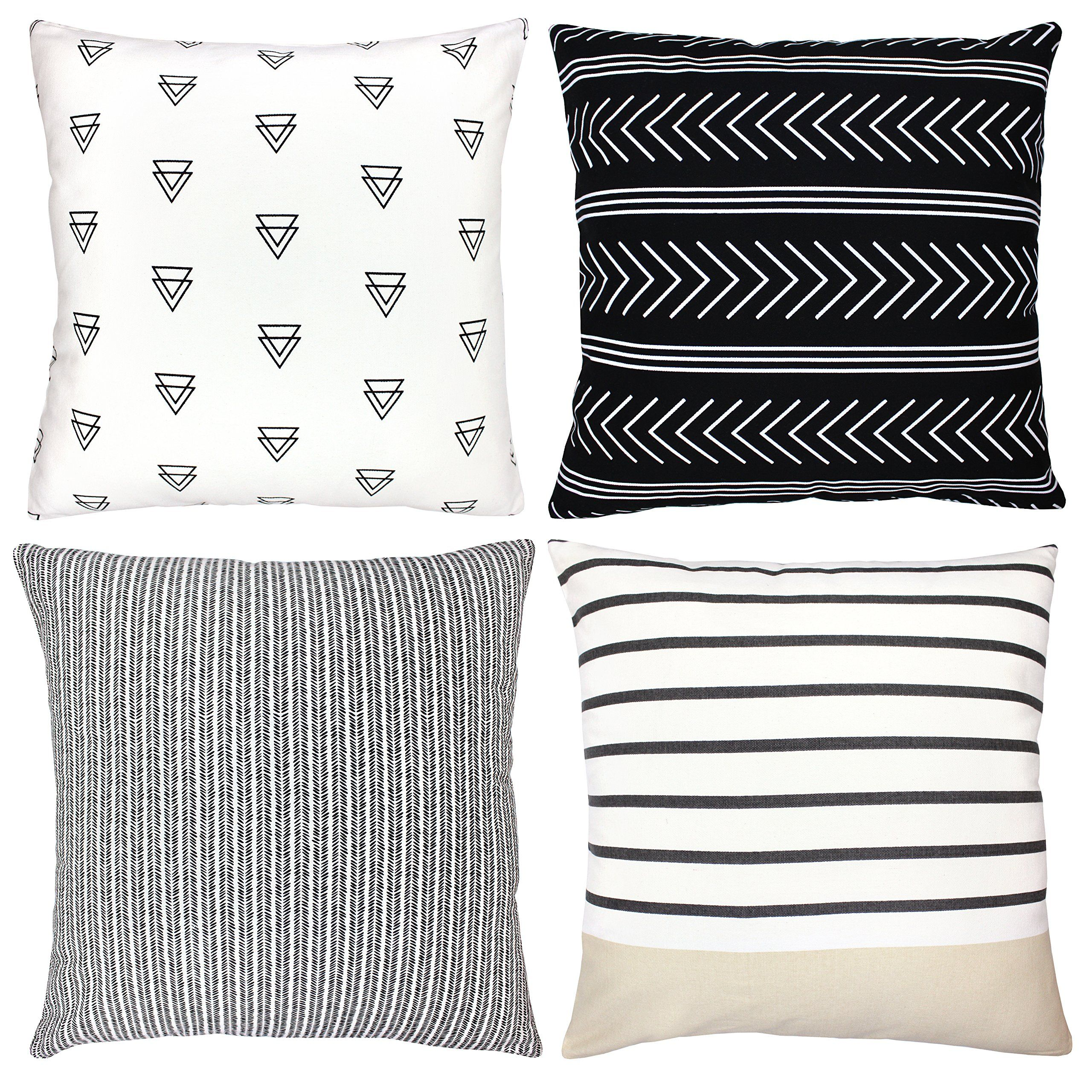 Decorative Throw Pillow Covers For Couch, Sofa, Or Bed Set