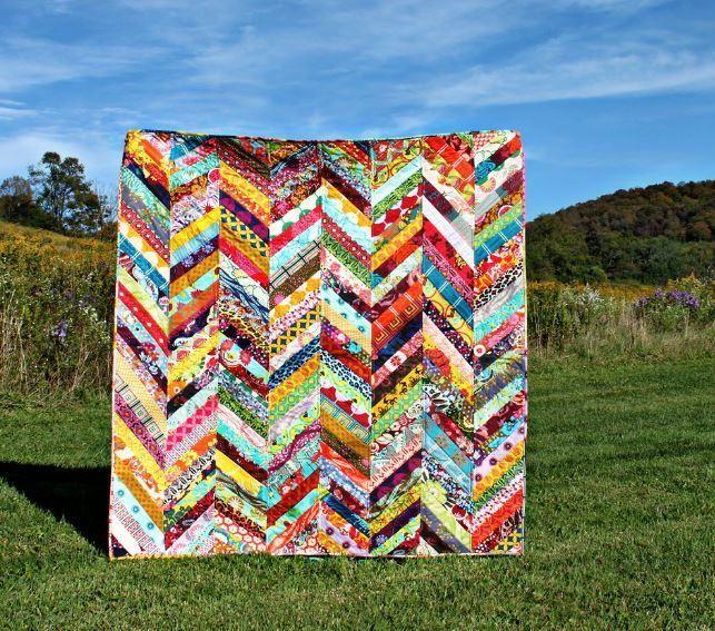 Scrappy Herringbone Quilt Tutorial | Herringbone quilt tutorials ... : colorful quilt patterns - Adamdwight.com