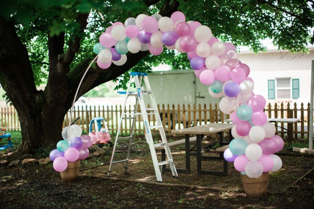 DIY Outdoor Birthday Balloon Arch Stand How To Tutorial