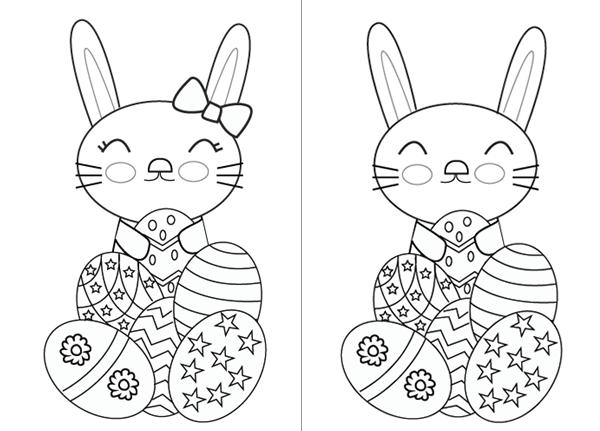Easter bunny for coloring Conejo de Pascua para colorear http