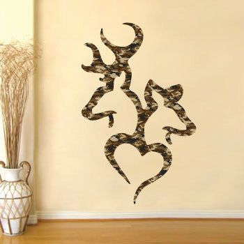 Browning Deer Heart Camo Realtree real tree buck by stickerscrate ...